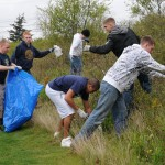100423-N-9860Y-001 OAK HARBOR, Wash. (April 23, 2010) Sailors assigned to the Center for Naval Aviation Technical Training Unit Whidbey Island collect trash in the Saratoga Heights housing area during the Great American Clean Up. Approximately 300 people representing Forest City Military Communities, Navy Whidbey Recycle and Naval Air Station Whidbey Island tenant commands participated in the event, conducting clean-ups in military housing communities around the area and the Naval Air Station Whidbey Island Seaplane Base. (U.S. Navy photo by Mass Communication Specialist 2nd Class Tucker M. Yates/Released)