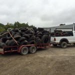 Trailer load of tires